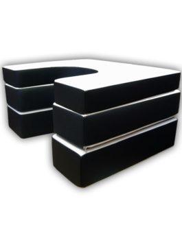 Komplet: 3 poduszki z rzepem